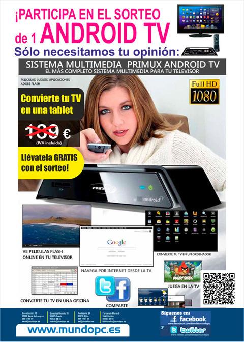 MUNDO PC - Sorteamos un Android TV entre 100 participantes ¡¡Date prisa!! -
