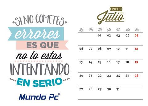 Calendario Julio: Trabaja en tu oficina sin estar en ella