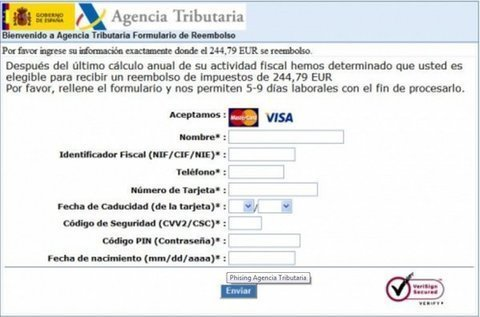 MUNDO PC - Phishing Ministerio de Hacienda -