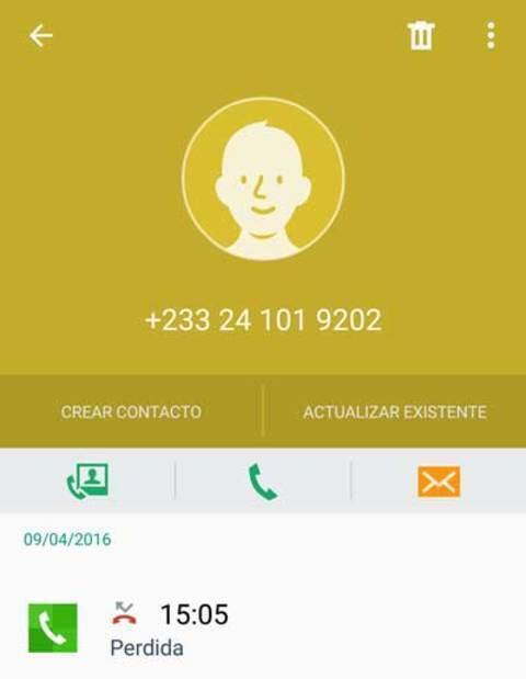 Fraude telefónico con prefijo de Ghana