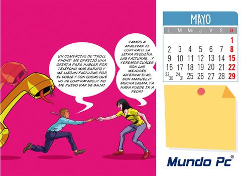 Calendario Mayo 2016: Telecomunicaciones y enga�os express a empresas