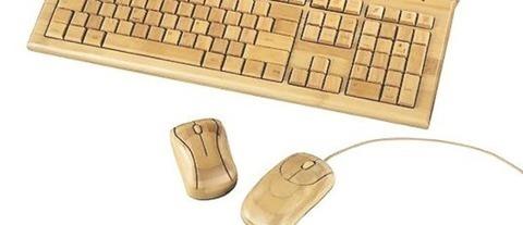 Teclados y ratones de bambú