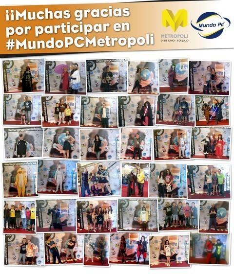 MUNDO PC - Participantes del concurso #MundoPCMetropoli, ¡gracias! -