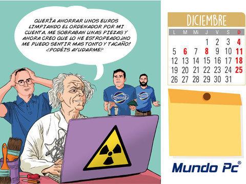 Calendario diciembre MundoPC: Limpieza interna de un ordenador