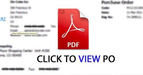 PDFs con links maliciosos por correo electrónico